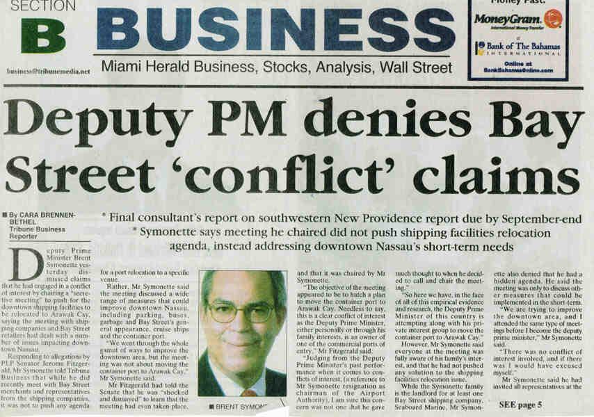 PORT RELOCATION CONFLICT OF INTEREST NEWSPAPER ARTICLE - Basında Biz Görsel - 7