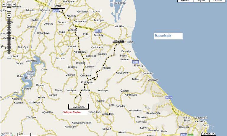 harita 768x460 6 - Nebiyan dağına nasıl gidilir